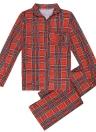 Filles de famille garçons garçons pyjama ensemble à carreaux à manches longues vêtements de nuit costumes