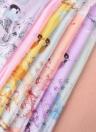 Nueva gasa de las mujeres de la bufanda de la flor de la urraca Contraste de impresión en color fina larga de Pashmina Mantón de la vendimia