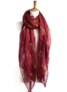 Vintage Fox Animal Print Soft Shawl Autumn Scarf