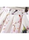 Nouveau mode femme jupe papillon Floral imprimer un ligne Zipper élégante jupe vert/noir/blanc