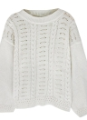 Mulheres Loose Tricô Sweater O-Neck Long Sleeve Solid Warm Pullovers Top Knitwear