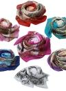 Las nuevas mujeres de la bufanda de la gasa de la impresión floral plegable del mantón largo de la playa de Pashmina Bufanda elegante delgada