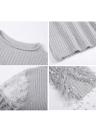 Pull en mousseline de soie à manches longues en mousseline de soie