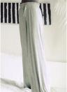 Las mujeres de invierno sueltan los pantalones anchos de la pierna Los pantalones sólidos ocasionales de la cintura el elástico fuerte