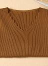 Maglione di pullover lavorato a maglia solido di base delle donne di modo