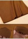 Pull à capuche tricoté solide de mode des femmes de mode