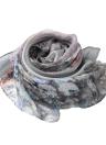 Mulheres Chiffon Scarf Floral New Vintage Contraste de impressão a cores Longo Fino Xaile de Pashmina