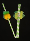 50pcs / set Eccellente Amazing 3D frutti carino Food Grade paglie di carta per il compleanno di nozze Baby Shower celebrazione e festa multifunzionali cannucce con frutta Decorato