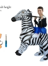 Lovely Adult Inflatable Rider Costume Cute Zebra Cosplay Prop Inflatable Fancy Dress Costume Animal Costume for Festival Party Gala Parade Halloween Carnival Party