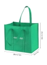 Esonmus 6pcs/set Multipurpose Reusable Non-Woven Large Grocery Tote Bags Foldable Shopping Bags Storage Handbags with Dual Reinforced Handles