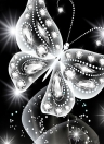 10 * 10 inches/25 * 25cm DIY 5D Diamond Painting Kit Butterfly Resin Rhinestone Mosaic Embroidery Cross Stitch Craft Home Wall Decor
