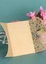 20 pçs / set Cartão De Convite De Casamento Tampa Da Pérola Corte A Laser De Noiva Nupcial Padrão Convite Cartões de Aniversário De Casamento Suprimentos - Ouro