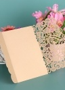 20pcs / set carta di invito a nozze copertina carta di perle taglio laser a cuore cavo modello di invito carte forniture anniversario di matrimonio - oro