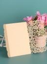 20 pçs / set Cartão de Convite de Casamento Papel De Pérola Cortado A Laser Aves Padrão Cartões de Convite de Casamento Fontes de Aniversário - Ouro