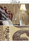 SENBIRD Noble Classical Luxury European Style Wallpaper Flower Pattern Non-woven Paper Wallpaper Retro Room Decoration Background 0.53m*10m=5.3㎡