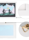Modern 3D Decorative Painting with Frame Delicate Paper Engraving Picture Wall Living Room Home Decor Decoration 24*30cm