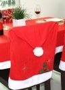 Cute Santa Claus Red Hat Christmas Chair Back Cover Xmas Kitchen Dining Chair Covers Christmas Decoration Supply