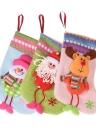 Boneco de neve bonito / saco do presente dos doces de Papai Noel / rena Presente de Natal da meia Sock Xmas Tree Ornament Pendant Abastecimento Decoração de Natal