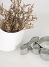 3PCS Edelstahl Fondant Caulis Dendrobii Flower Petal Ausstecher Gummi-Pasten-Form-Backen-Kuchen, der Werkzeuge Sugar Ausstechform