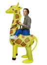 Adorable Adult Inflatable Costume Cute Giraffe Inflatable Fancy Dress Costume Rider Ride Me Animal Costume for Festival Party Gala Parade Halloween Carnival Party Cosplay Prop