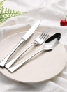 3pcs/set High-end Luxury Western Style Stainless Steel Flatware Set Good Quality Solid Dinnerware Utensils with Storage Box