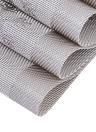 12 * 18 pollici PVC resistente al calore del tessuto Placemat Anti-skid anti-skid Lavabile tavolo da tavolo Materassi Placemats per il Natale - Set di 4 cammelli