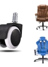 "5Pcs 2 ""/1.5"" Heavy Duty Office Chair girevole girevole della rotella della rotella"