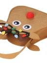 5pcs / set Bolso de regalo de los bolsos del caramelo de la Navidad de los bolsos de Pocekts Ornamentos de las decoraciones de X'mas - reno