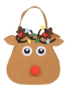 5pcs / set Bolsas de doces de Natal Gift Wrap Pocekts Bags X'mas Decorations Ornaments - Reindeer
