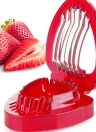 Strawberry Stem Gem Slicer Cutter A Good Helper for Fruit Platter  Creative Living Kitchen Gadget