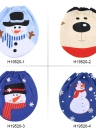 Soft Polyester Snowman Christmas Toilet Seat Cover Christmas Closestool Decorations Ornaments for Bathroom