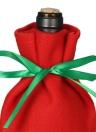 Sac de couvert de bouteille de vin de Noël Sac de sucrerie de cadeau X'mas avec des rubans de teint Décorations de fête de Noël Oranments