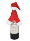 Christmas Wine Bottle Cover X'mas Champagne Gift Wrap Clothes Christmas Party Decoration Ornaments--Hat + Scraf