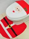 Tappezzeria morbida in poliestere natale per la toletta di natale + Tappi da bagno in plastica antiscivolo a forma di U Natale Decorazioni natalizie - Babbo Natale