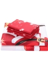 La fibra 3D 3D del set di biancheria di Santa della Santa di Natale di 3pcs / set ha stampato la decorazione della camera da letto di natale stabilita della lamiera del Bed + Pillowcase + Bed Sheet