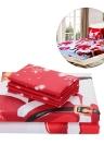 3pcs/set Christmas Santa Bedding Set Micro Fiber 3D Printed Fitted Bed Sheet + Pillowcase + Bed Sheet Set Christmas Bedroom Decorations