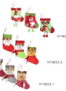 3pcs/set Christmas Hanging Stockings Santa Snowman Reindeer Gift Candy Bags Christmas Decoartions Ornaments