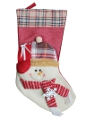 3pcs/set Christmas  Santa Snowman  Reindeer Candy Bags Hanging Stockings