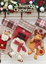 Christmas Hanging Stockings Gift Candy Bag Christmas Decoartions Ornaments--Santa