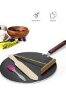 Pancake Pan Crepe Maker Flat Pan Griddle Pan with Spreader & Spatula Crepe Maker Griddle