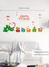 45 * 60cm Merry Christmas DIY Removable Wall Window Stickers Santa Claus Snowman Wall Art Decals Home Decor