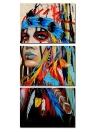 30 * 45 cm HD Stampato Frameless 3-Panel stile indiano tela pittura di arte della parete immagini Decor per la casa Soggiorno camera da letto