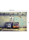 50 * 70cm HD Printed Frameless Scrawl Crianças Estilo Canvas Pintura Wall Art Pictures Decoração para Casa Sala Quarto Quarto