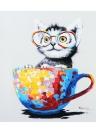 50 * 50 cm HD Impreso Sin Marco Gato Lienzo Pintura Wall Art Pictures Decor para el Dormitorio de la Sala de estar
