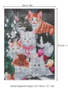 12 * 16 inches/30 * 40cm DIY 5D Diamond Painting Kit Cat Animal Pattern Resin Rhinestone Mosaic Embroidery Cross Stitch Craft Home Wall Decor
