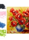 NAIYUE 12 * 12 inches/30*30cm DIY 5D Diamond Painting Kit Painting Flowers Pattern Rhinestone Mosaic Embroidery Cross Stitch Craft Home Wall Decor