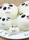 Squisito Fun Soft Soft Panda Cartoon Squishy Slow Rising Spremere Toy Phone cinghie Simula Ballachines Kawaii Squishies Cream Profumato Agitarsi Giocattoli per bambini e adulti Stile casuale φ4cm