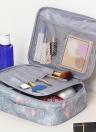 Flamingo Cosmetología Estuche Cosmético Cremallera Doble Mujeres Organizador de Viajes Impermeable Bolsa de Almacenamiento de Gran Capacidad Portátil Bolsas de Maquillaje Kits de Higiene A1