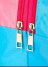 Sacs séchés à sec humide Sac à main de grande capacité Sac de rangement imperméable Pochette de vêtements imperméable pour la plage Natation Gym Spa Parc aquatique Surf Rafting (sourire rose)