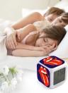 7 couleurs changeantes multi-fonction LED numérique réveil cube rougeoyant dans l'obscurité Home Decor Célèbre bande de Rock Girls Boys Style 1